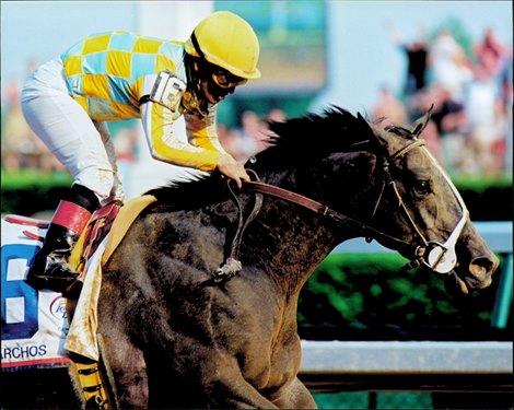 Monarchos wins the 2001 Kentucky Derby