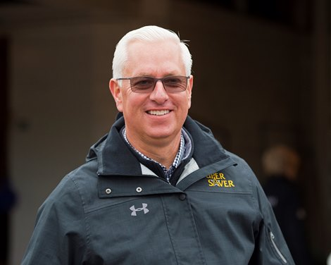 Todd Pletcher<br> Morning scenes at Churchill Downs on April 25, 2018 Churchill Downs in Louisville, Ky.