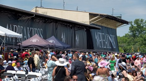 Beautiful weather at Pimlico Race Track Friday May 17, 2019, the day before the Preakness Stakes at the historic race track in Baltimore, MD.
