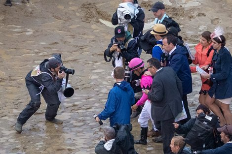 Luis Saez reacts to being disqualified. Country House with Flavien Prat aboard wins the 145th running of the Kentucky Derby (G1) on May 4, 2019 in Louisville, Ky.