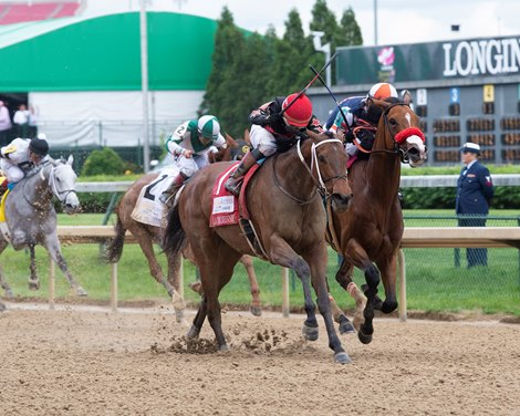 She's A Julie with Ricardo Santana Jr. wins the La Troienne (G1) at Churchill Downs during Derby week 2019 May 3, 2019 in Louisville, Ky.<br>