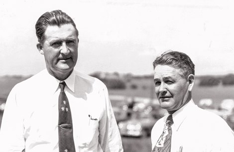 Ivan Parke, right, with Fred W. Hooper in July 1952