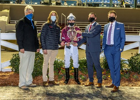Midnight Bourbon wins the LeComte Stakes Saturday, January 16, 2021 at Fair Grounds