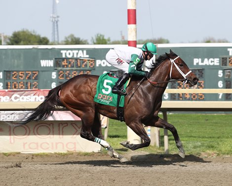 Chub Wagon wins the $100,000 Unique Bella Stakes at Parx Racing on April 27, 2021