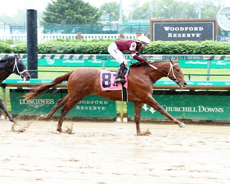 Red Run wins a maiden special weight Sunday, May 9, 2021 at Churchill Downs