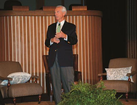 Kentucky Governor Steve Beshear<br> 2014 Thoroughbred Owner Conference at Keeneland Race Course<br> Photo by: Daniel Sigal