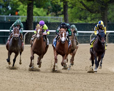 Promise Keeper wins the 2021 Peter Pan Stakes at Belmont Park