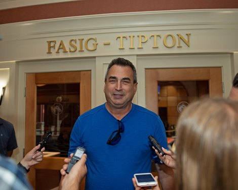 George Sharp, buyer of Hip 647 Front Run the Fed from Elite Sales<br> Scenes, people and horses at The July Sale at Fasig-Tipton near Lexington, Ky. on July 12, 2021.