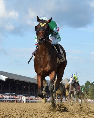 Averly Jane wins the 2021 Skidmore Stakes at Saratoga